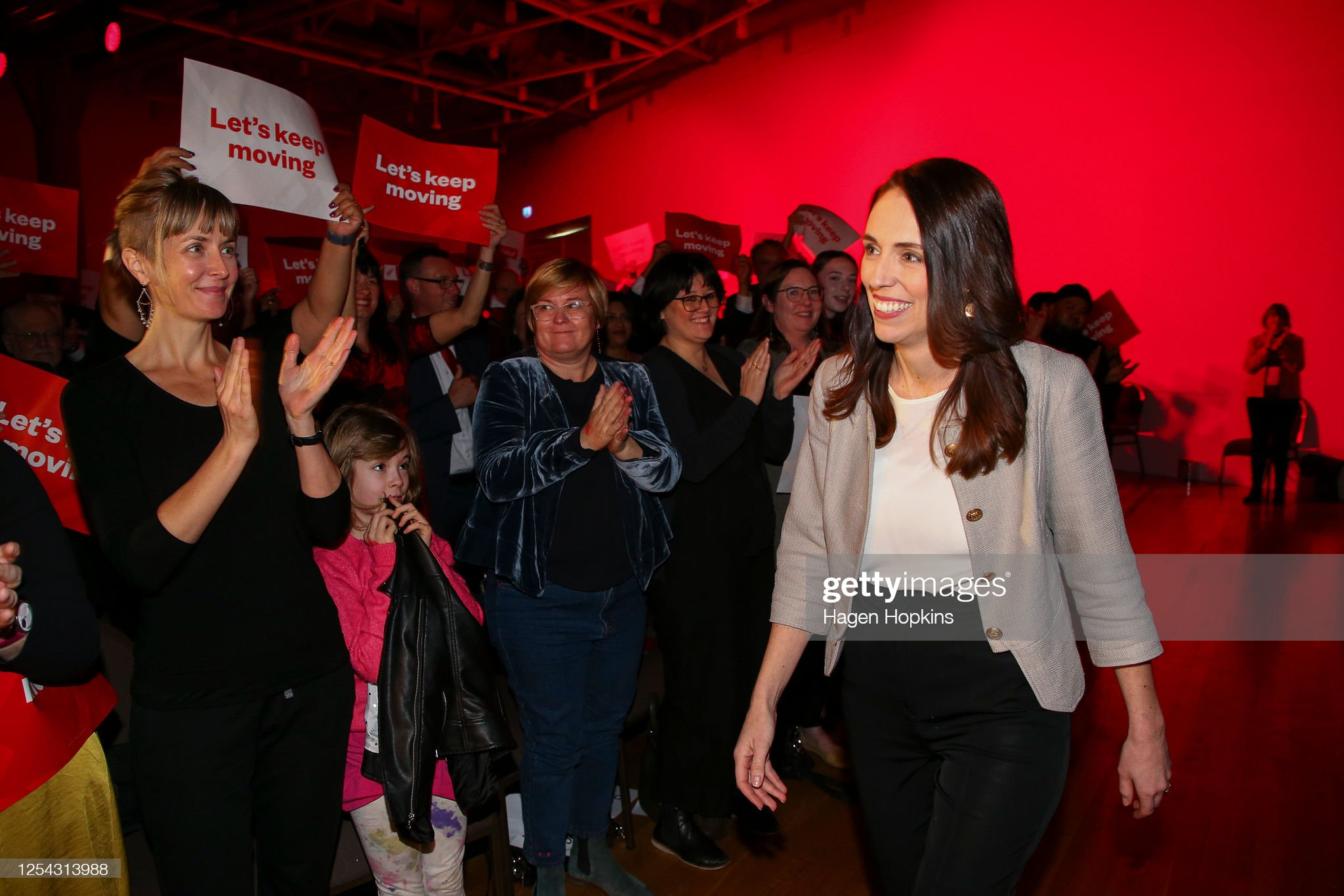 Prime Minister Jacinda Ardern Delivers Address To Labour Congress 2020 : News Photo