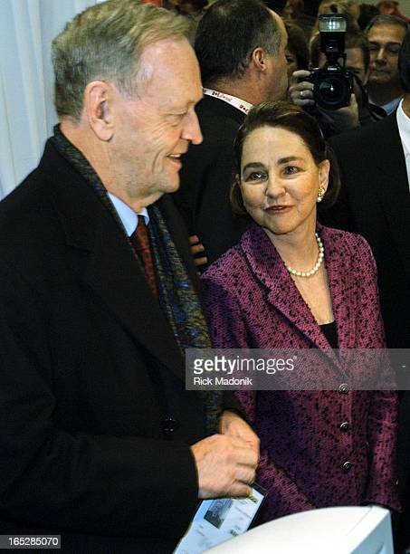 Prime Minister Jean Chretien, and wife Aline, arrive to register at the Metro Toronto Convention Centre in preparation for this weekends Leadership...