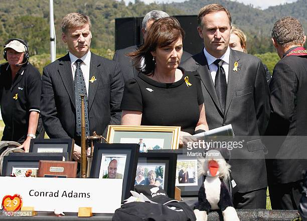 Prime Minister John Key and his wife Bronagh pay their respect at a national memorial service for the 29 miners that lost their lives in the Pike...