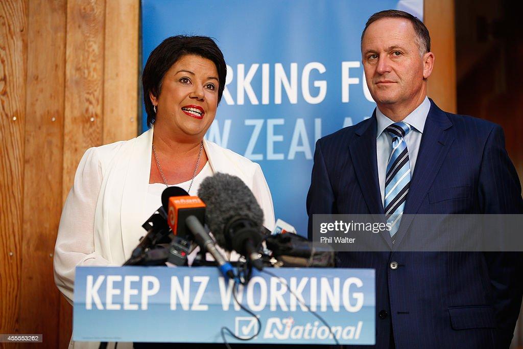 National Leader John Key Announces Welfare Policy : News Photo