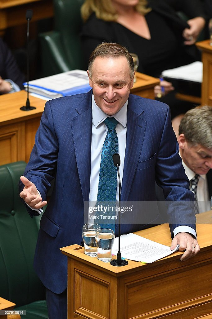 John Key Returns To Parliament After Announcing Resignation
