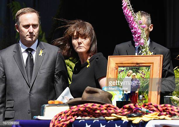 Prime Minister John Key with his wife Bronagh pay their respect at a national memorial service for the 29 miners that lost their lives in the Pike...