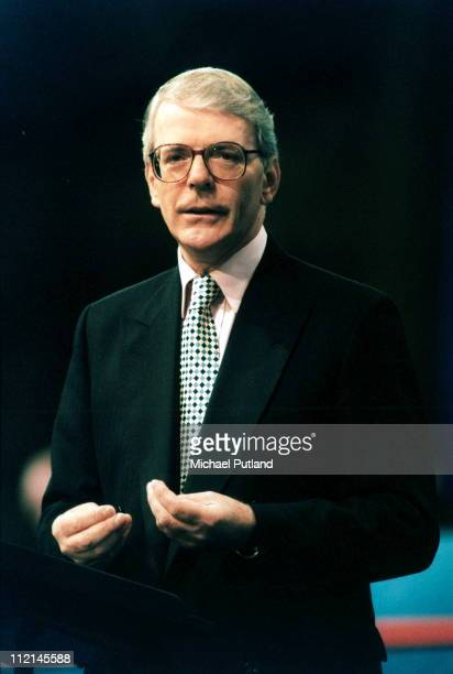 Prime Minister John Major speaks at the Conservative Party Conference, UK, 1995.