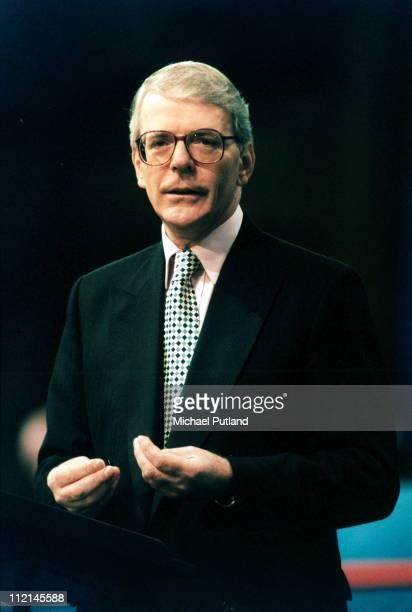 UK Prime Minister John Major speaks at the Conservative Party Conference UK 1995