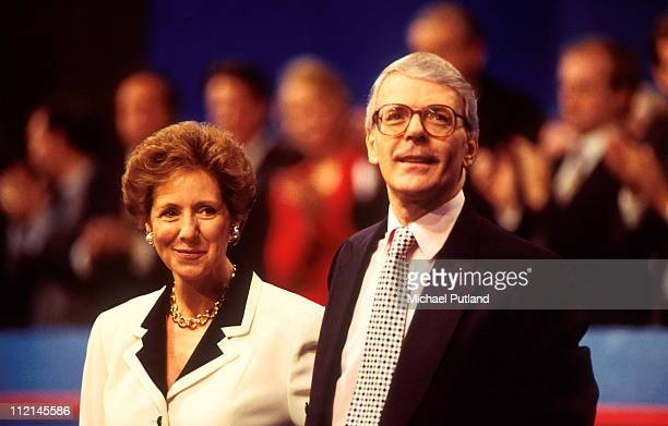 Prime Minister John Major with his wife Norma at the Conservative Party Conference 1995.
