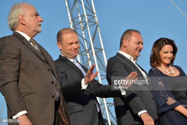 Prime Minister Joseph Muscat at a Labour Party Rally in Floriana, Malta on Sunday, May 29, 2017. Malta will hold a national general election on June...