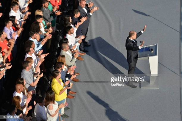 Prime Minister Joseph Muscat speaks at a Labour Party Rally in Floriana, Malta on Sunday, May 29, 2017. Malta will hold a national general election...