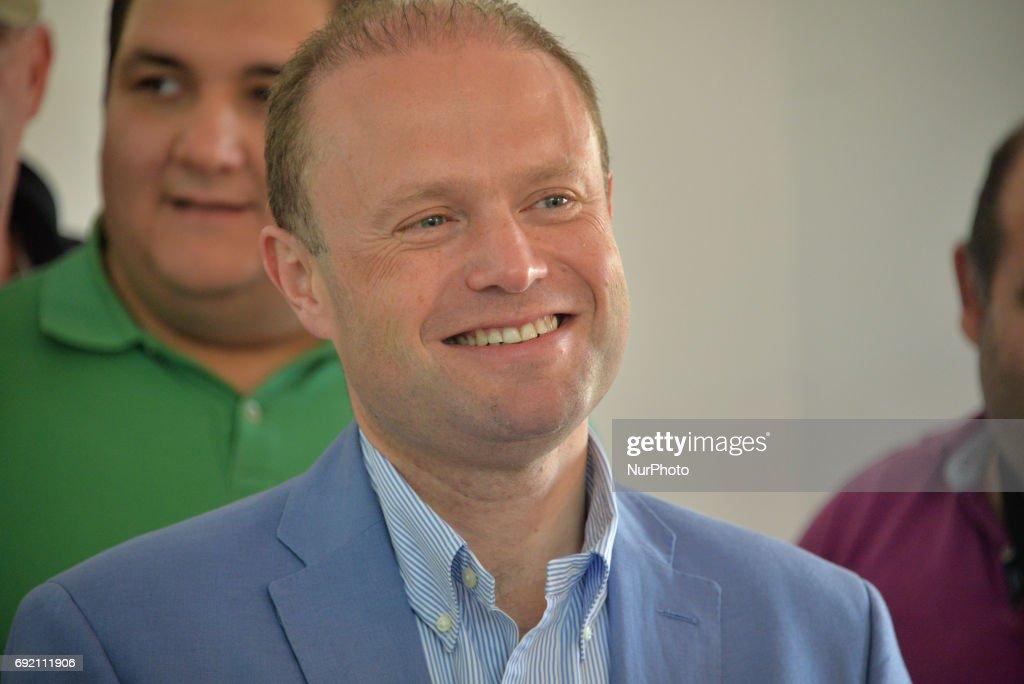 Prime Minister Joseph Muscat Votes in Malta Election 2017