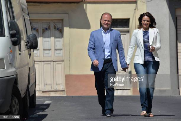 Prime Minister Joseph Muscat Votes in Malta Election 2017 on Saturday June 3 2017 in Burmarrad Malta Muscat is seeking reelection after calling for a...