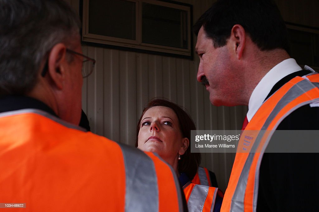 Julia Gillard Campaigns In Canberra & Central Coast
