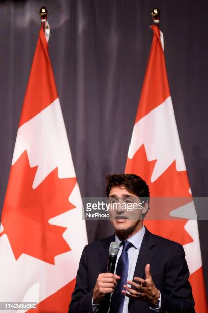 Prime Minister Justin Trudeau and also the Leader of the Liberal Party of Canada joined supporters for a discussion at an open Liberal fundraising...