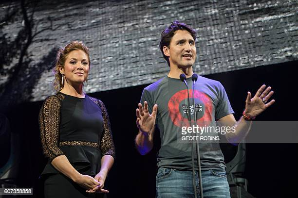 Prime Minister Justin Trudeau and his wife Sophie Gregoire Trudeau host the Global Citizen Concert to End AIDS Tuberculosis and Malaria in Montreal...
