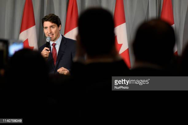 Prime Minister Justin Trudeau Leader of the Liberal Party of Canada will deliver remarks to supporters at an open Liberal fundraising event in...