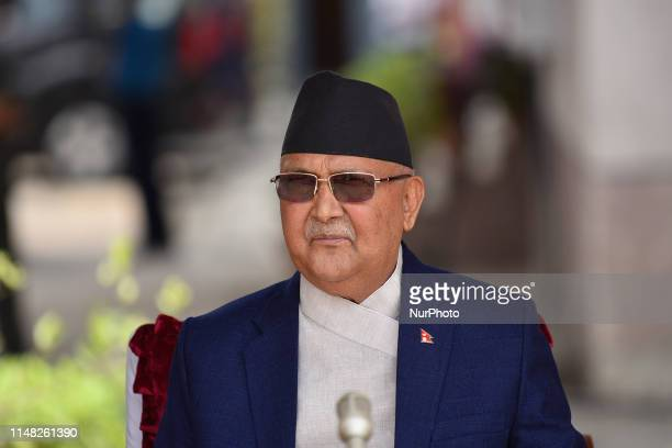 Prime Minister KP Sharma Oli arrive to plant Avocado fruit tree around the premises of Singha Durbar Kathmandu Nepal during World Environment Day...