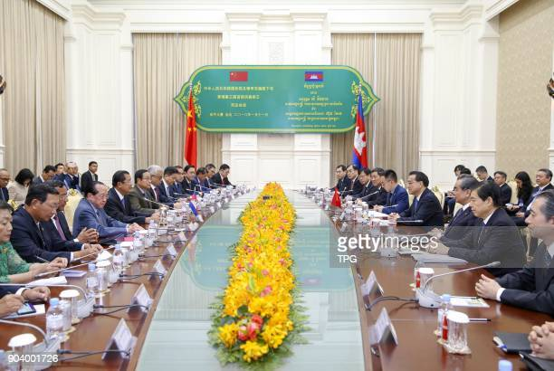 Prime minister Li Keqiang meeting with Cambodia prime minister Hun Sen on 11th January 2018 in Phnom PenhCambodia