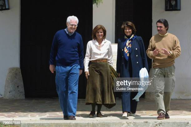 Prime Minister Lionel Jospin and his wife spent the weekend on the hacienda of Jose Maria Aznar and Ana Botella at Los Yebenes near Toledo