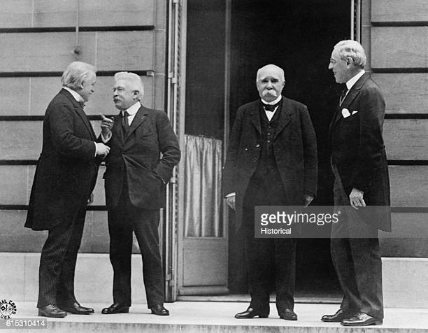 Prime Minister Lloyd George of Great Britain Prime Minister Orlando of Italy Premier Clemenceau of France and President Wilson of the United States...