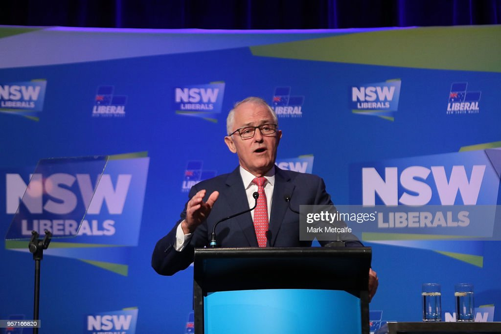 Malcolm Turnbull Delivers Address At NSW Federal Budget Lunch : News Photo