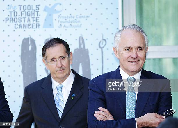 Prime Minister Malcolm Turnbull at the Prostate Cancer Foundation of Australia's Big Aussie BBQ at Parliament House on September 16 2015 in Canberra...
