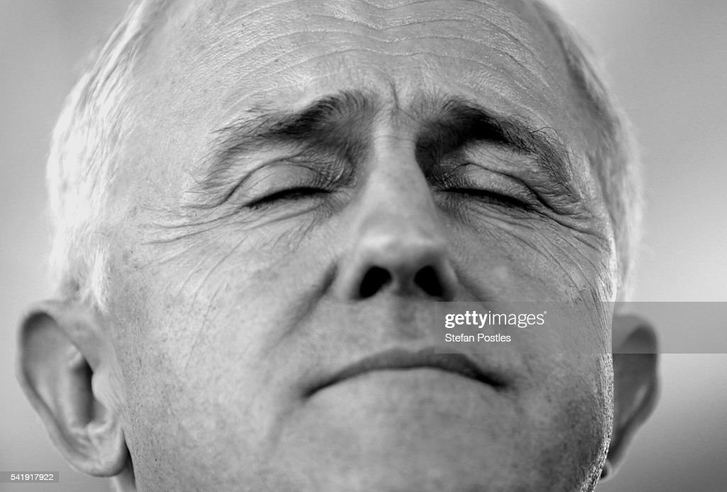 Prime Minister Malcolm Turnbull during a door stop at a construction site on June 21, 2016 in Darwin, Australia.