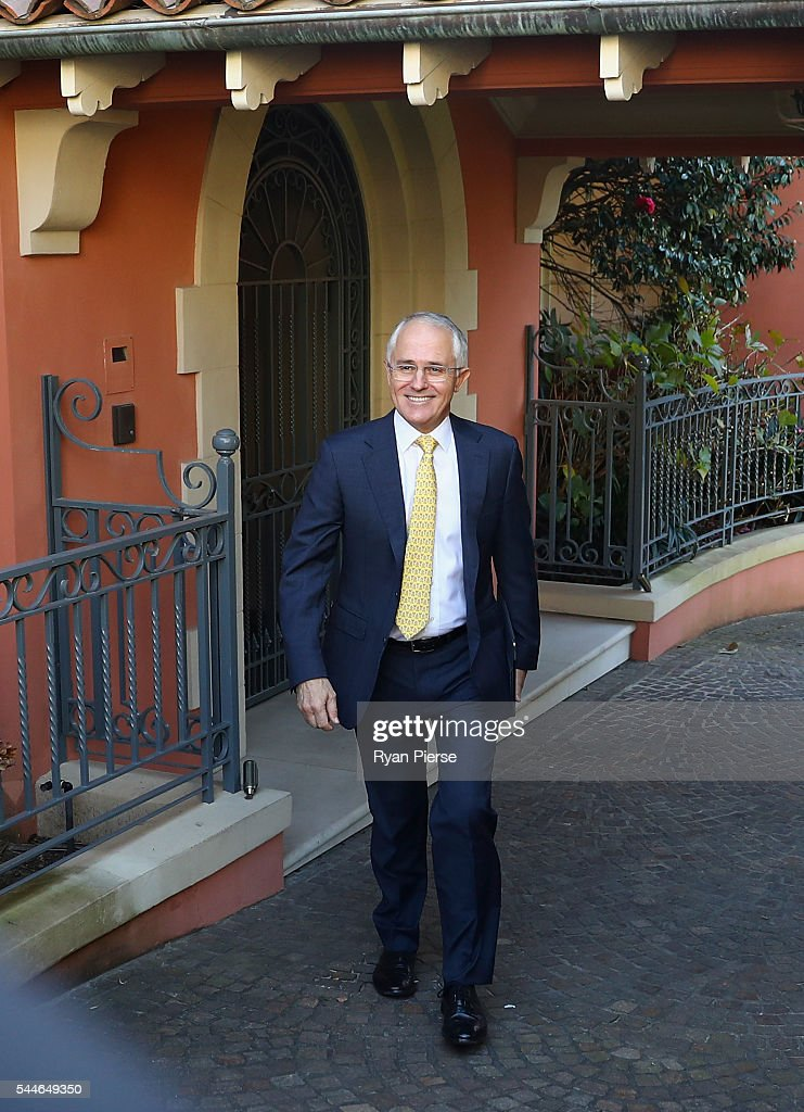 Prime Minister Malcolm Turnbull Awaits Election Results As Counting Continues