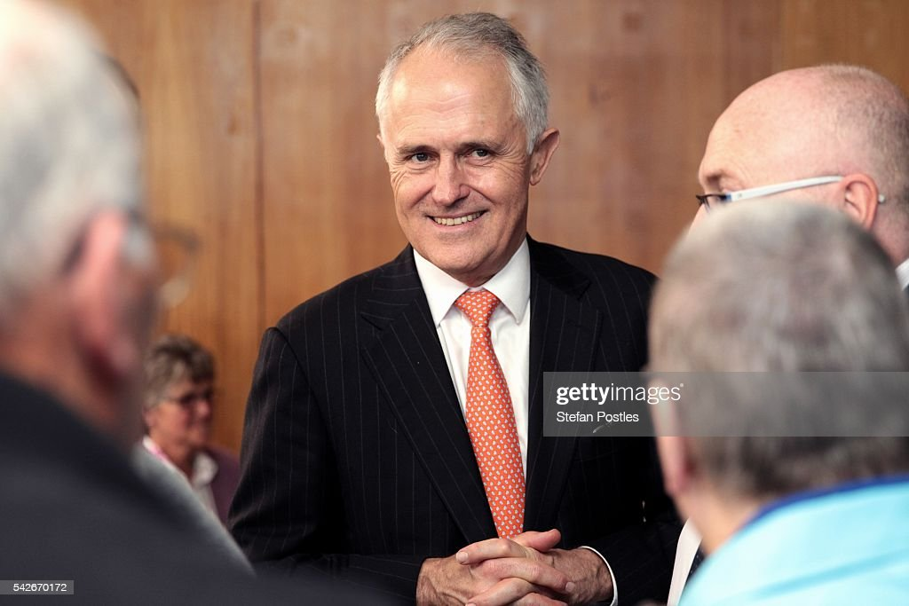 Malcolm Turnbull Campaigns On Jobs And Growth In Tasmania