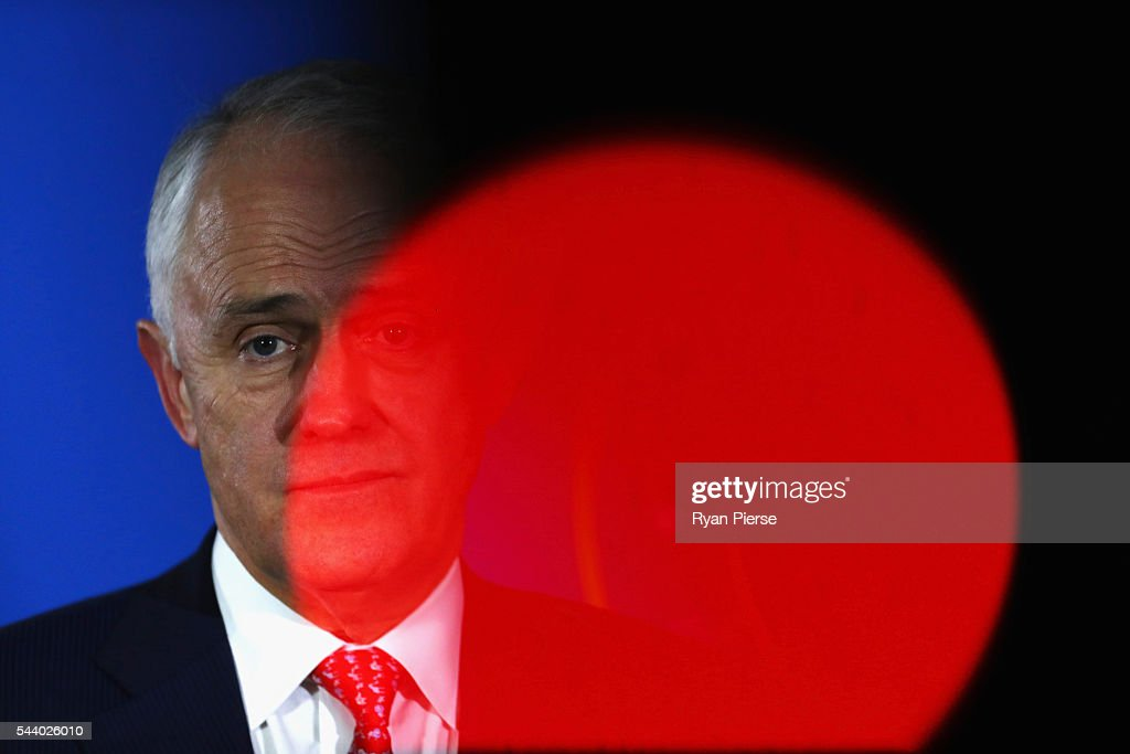 Malcolm Turnbull Campaigns On Election Day Eve