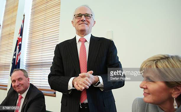 Prime Minister Malcolm Turnbull speaks during the Coalition Party meeting at Parliament House on July 18, 2016 in Canberra, Australia. Prime Minister...