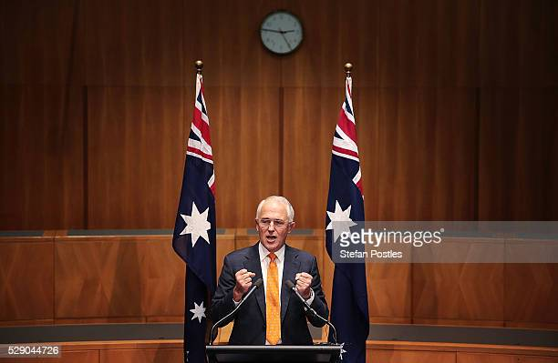 Prime Minister Malcolm Turnbull speaks to the media during a press conference at Parliament House on May 8 2016 in Canberra Australia Malcolm...