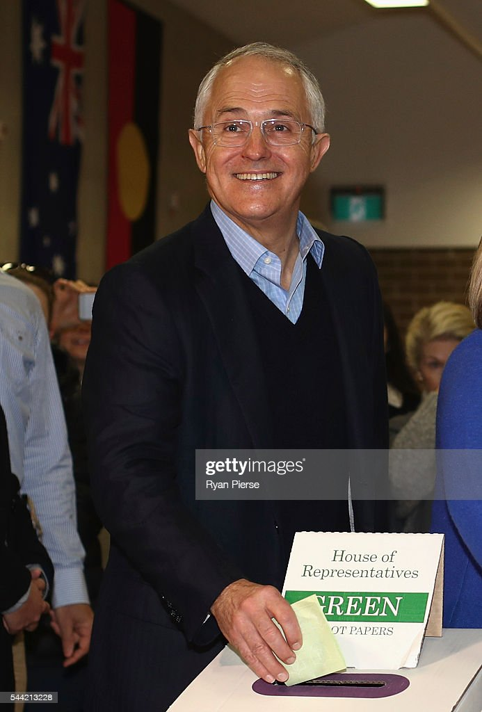 Prime Minister Malcolm Turnbull Campaigns On Election Day