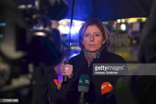 Prime Minister Malu Dreyer in Simeonstrasse pedestrian shopping street following an apparent motorist attack that so far has left two people dead,...