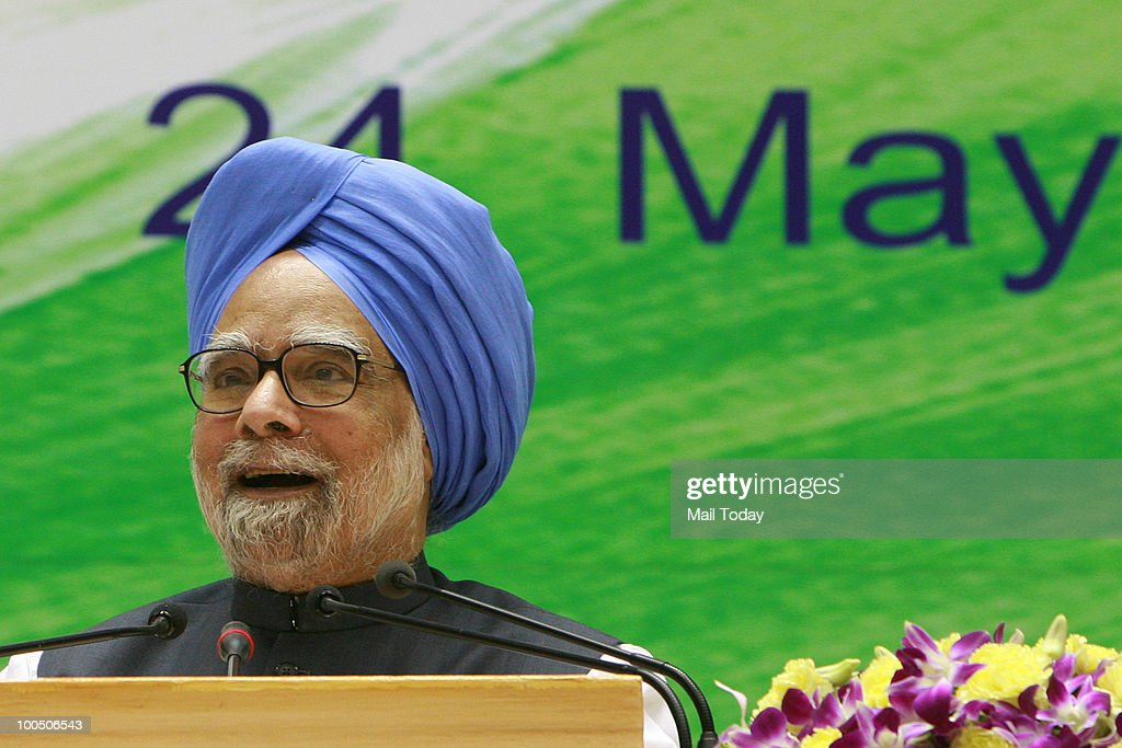 Prime Minister Manmohan Singh during his national press conference on completion of one year by his government at Vigyan Bhavan in New Delhi on May 24, 2010.