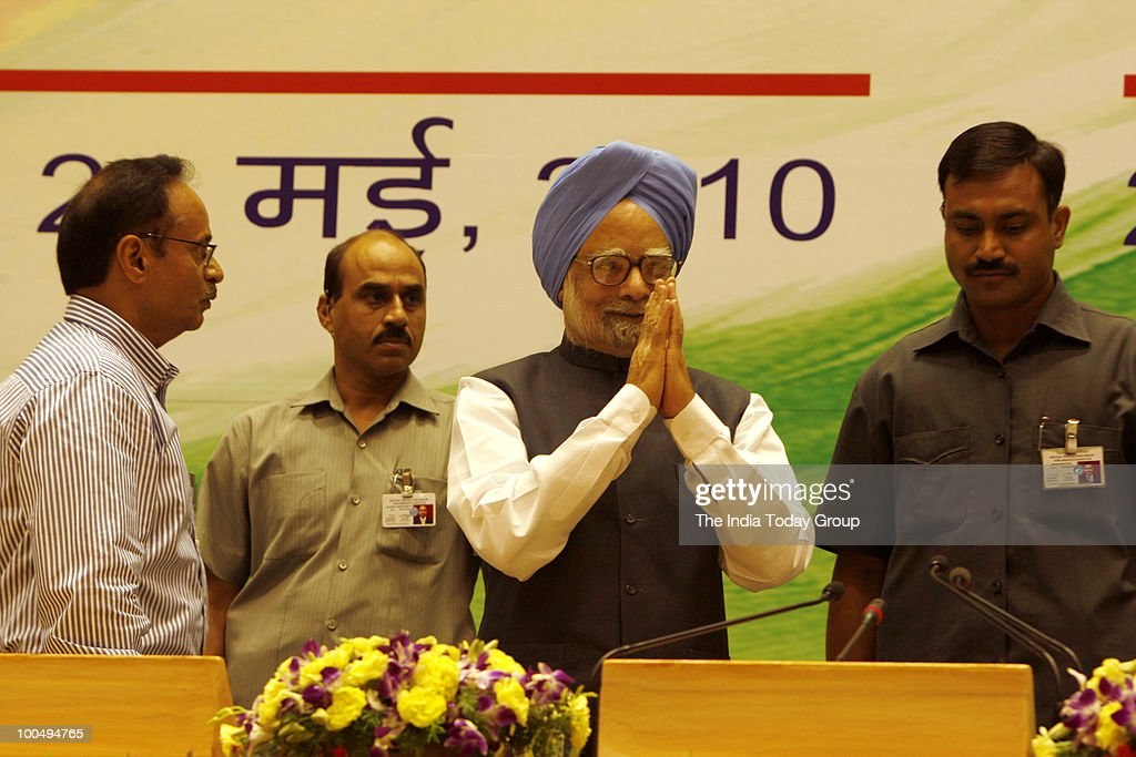 Prime Minister Manmohan Singh interacts with the media on completion of the first year of the UPA government's second term in New Delhi on Monday, May 24, 2010.