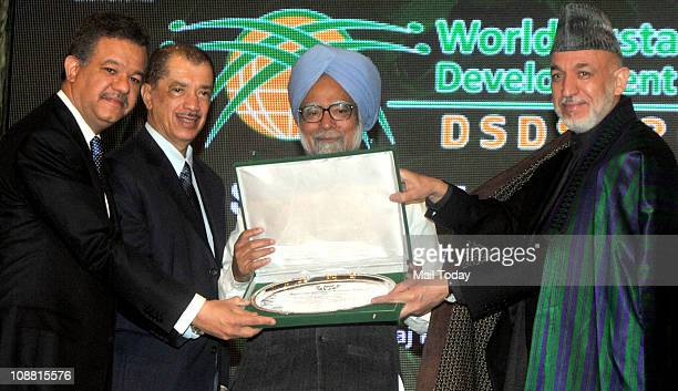 Prime Minister Manmohan Singh receives Sustainable Development Leadership Award 2010 from Dominican Republic President Leonel Fernandez Afghanistan...