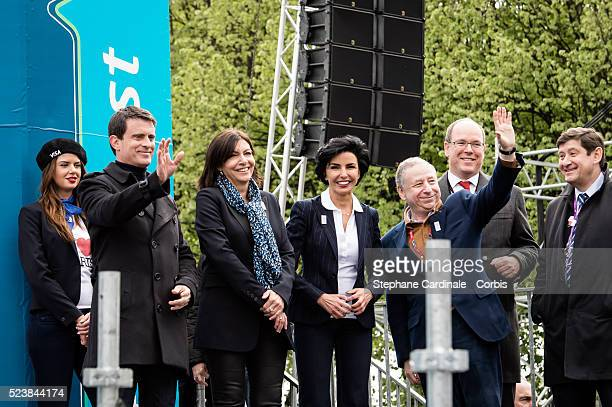 Prime Minister Manuel Valls Mayor of Paris Anne Hidalgo Mayor of Paris 7 district Rachida Dati Jean Todt Prince Albert II of Monaco and Sports...