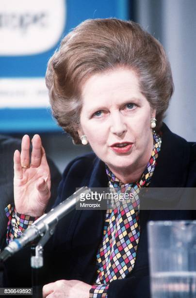 Prime Minister Margaret Thatcher at the Conservative Party Conference on elections to the European Parliament 21st May 1984