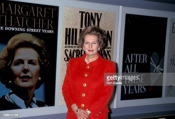 Prime Minister Margaret Thatcher attending 93rd Annual American Booksellers Association Convention on May 29 1993 at the Miami Beach Convention...