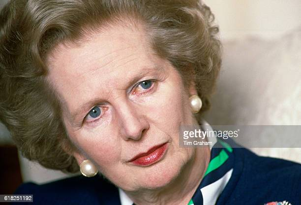 Prime Minister Margaret Thatcher in 10 Downing Street