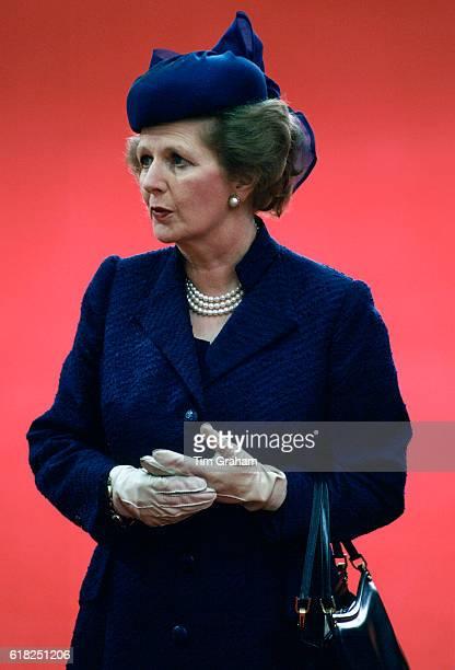 Prime Minister Margaret Thatcher in London
