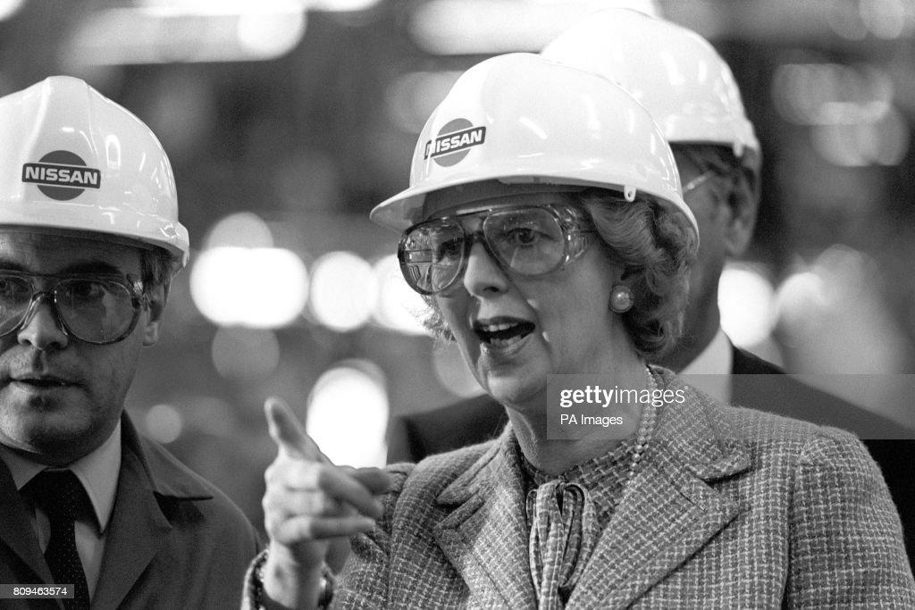Politics - Margaret Thatcher - Nissan Factory, Tyne and Wear : News Photo