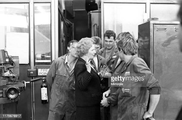Prime Minister Margaret Thatcher visits Harker and Son at Stockton. 12th September 1987.
