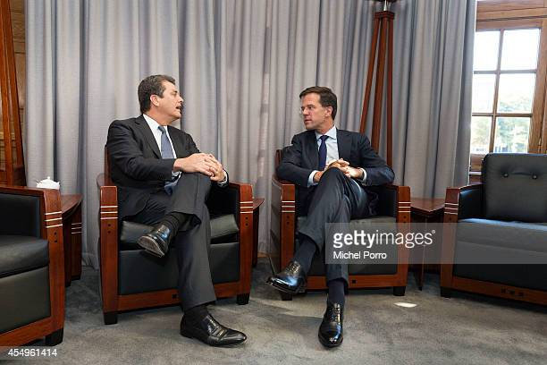 Prime Minister Mark Rutte meets Director General of the World Trade Organisation Roberto Azevedo on September 8 2014 in The Hague The Netherlands...