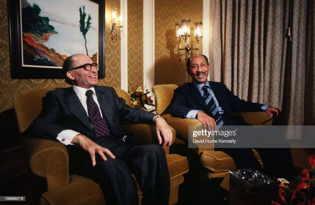 Sadat Meets Begin In Jerusalem : News Photo