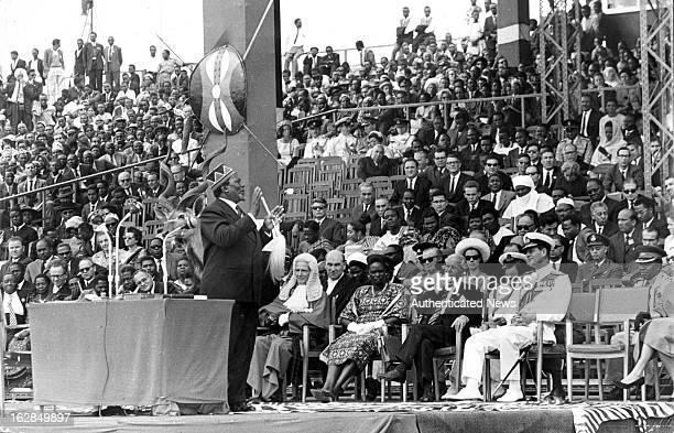 Prime Minister Mr Jomo Kenyatta at Independence Arena for The Independence Ceremony In Kenya 1963