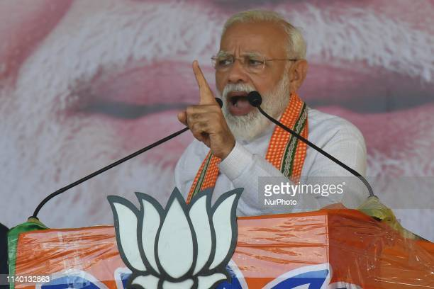 Prime Minister Narendra Modi Address at the Electiona Camping Rally on April 29,2019 in Chanditala ,West Bengal,India. Prime Minister Narendra Modi...