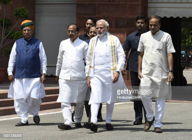 Prime Minister Narendra Modi along with Parliamentary Affairs Minister Ananth Kumar Union Minister for Development of North Eastern Region Jitendra...