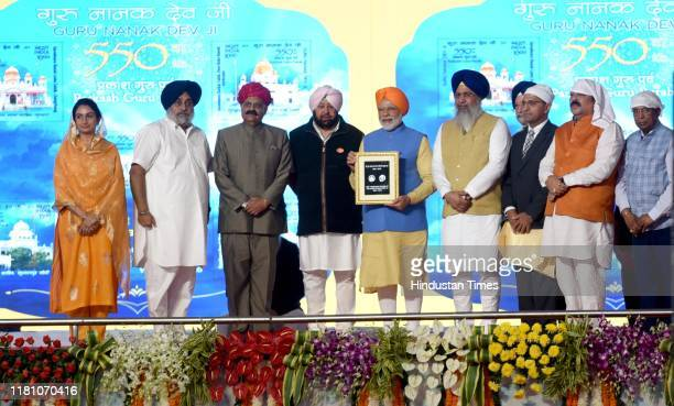Prime Minister Narendra Modi along with Punjab Chief Minister Capt Amarinder Singh SAD President Sukhbir Singh Badal and others launches a special Rs...