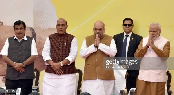 Prime Minister Narendra Modi BJP National President Amit Shah Union Home Minister Rajnath Singh Minister of Road Transport and Highways Nitin Gadkari...