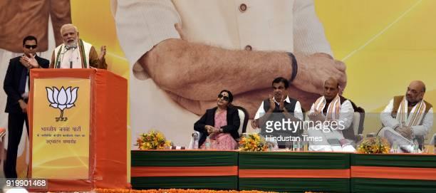 Prime Minister Narendra Modi BJP National President Amit ShahUnion Home Minister Rajnath Singh Minister of External Affairs Sushma Swaraj Minister of...