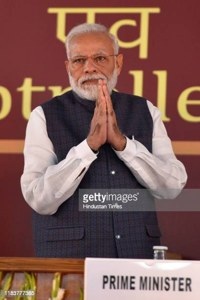 Prime Minister Narendra Modi during Accountant General And Deputy Accountant General Conclave at Office of the Comptroller and Auditor General of...